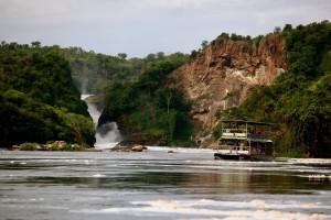 Boat cruise in Murchison falls base
