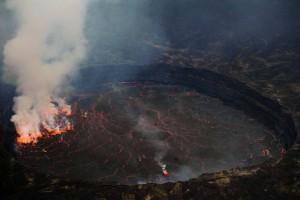 DR Congo Nyiragongo active volcanoes