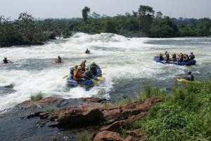 Water rafting fun on the Nile