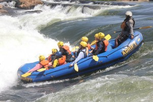 Water rafting on River Nile